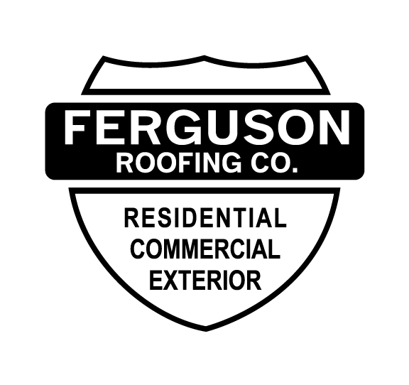 Ferguson Roofing Co. Shield Logo - Residential. Commercial. Exterior.