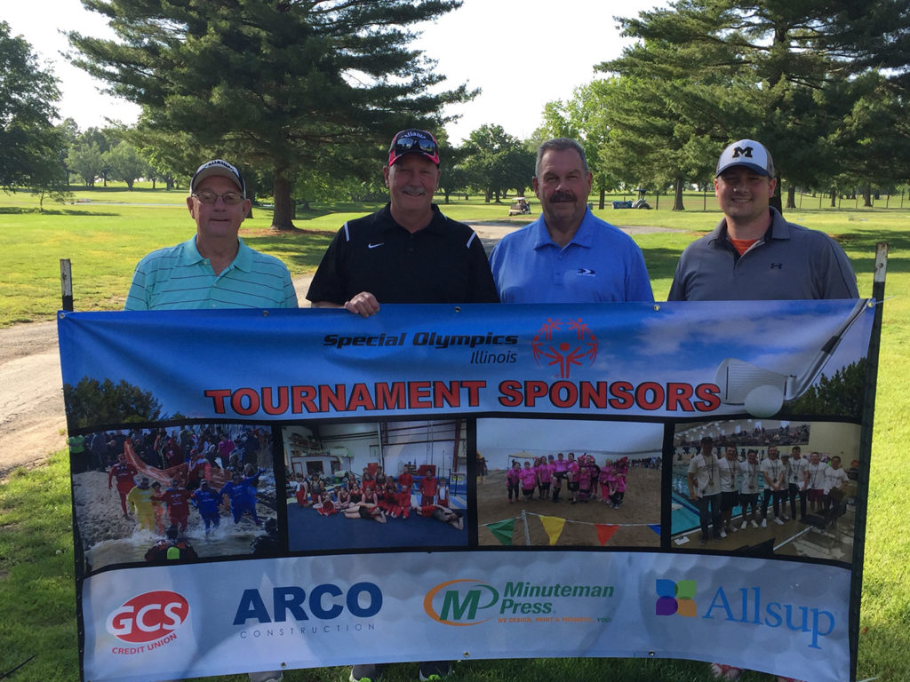 Special Olympics golf tournament banner