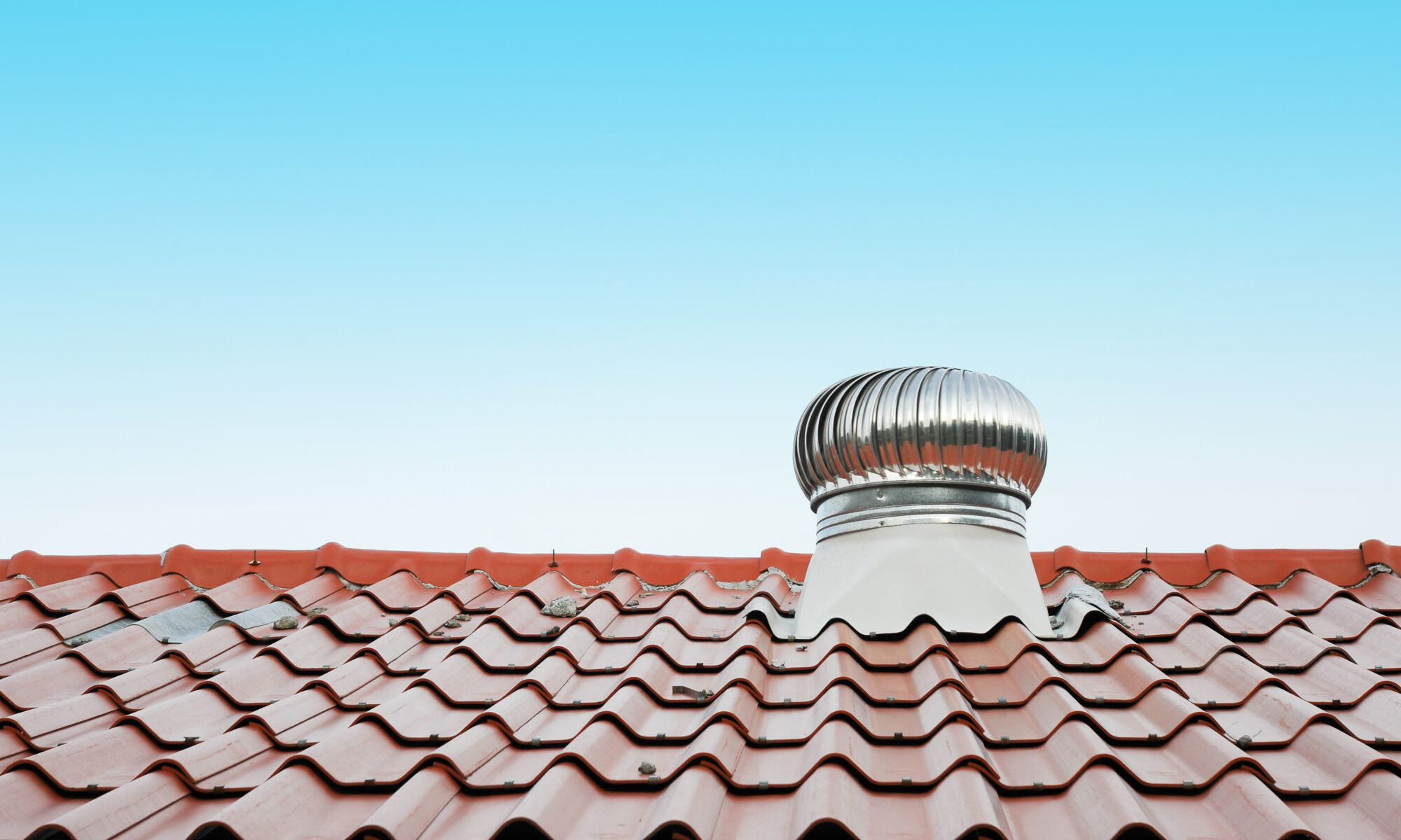 air vent on the red roof outdoor